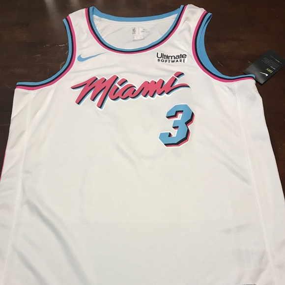 newest collection acdf4 f36f1 Dwayne Wade Miami Vice Authentic Jersey NWT